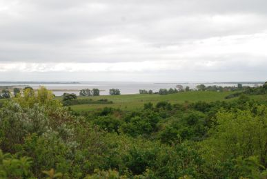 Vew on the island Hiddensee and the Vitter Bodden