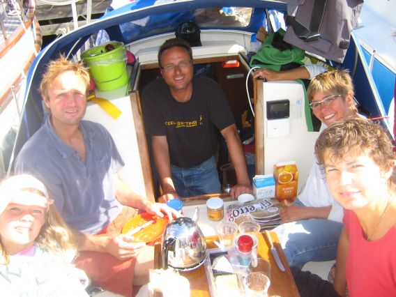 Luik, Ruurd and family on board